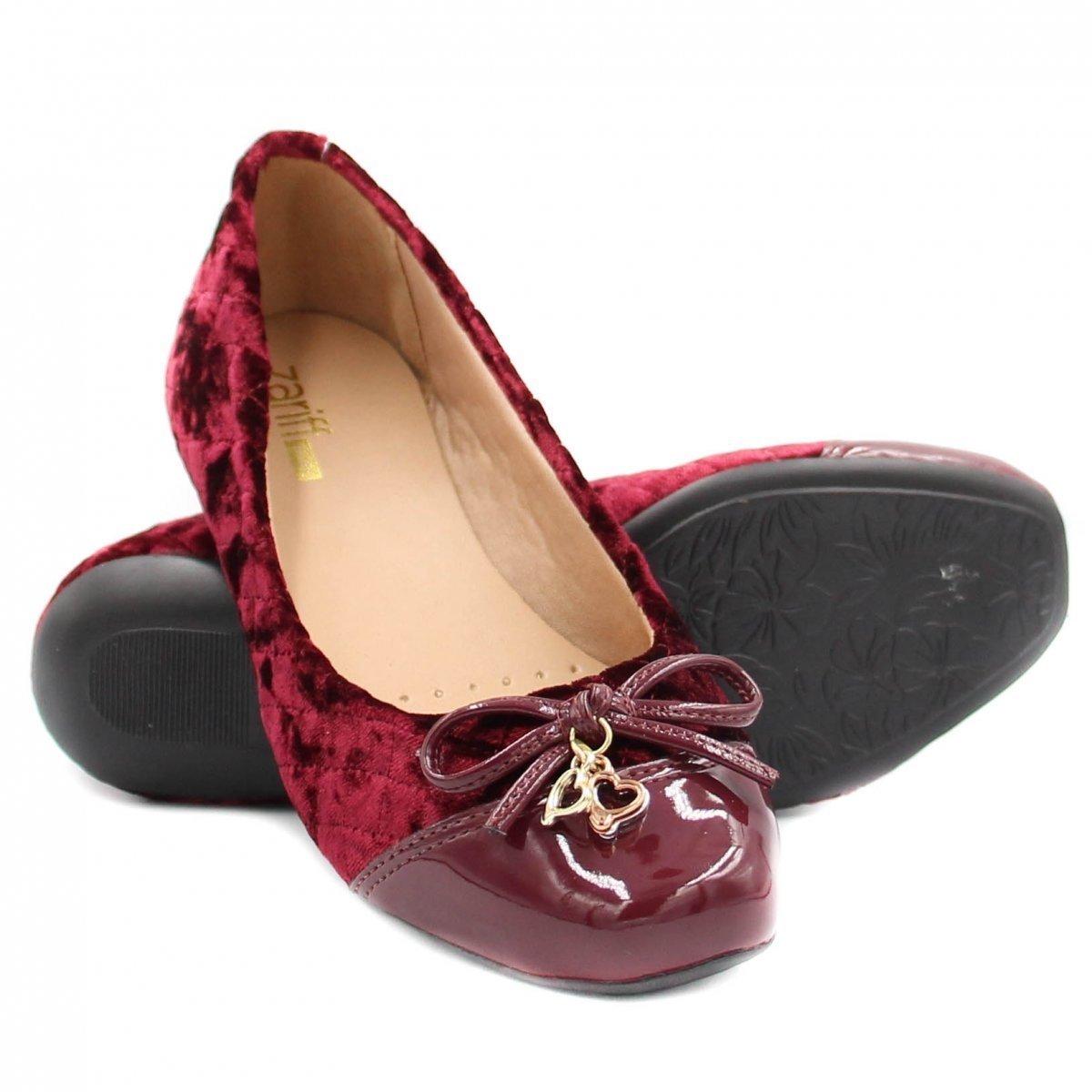 Shoes Sapatilha Zariff Zariff Sapatilha Vermelho Matelassê Verniz Feminina gt7xZS7wq