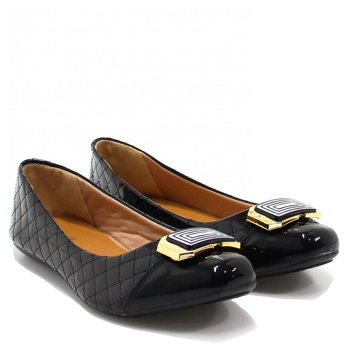 Zariff Sapatilha Sapatilha Metal Verniz Preto Verniz Zariff Shoes Shoes Iqq1tO