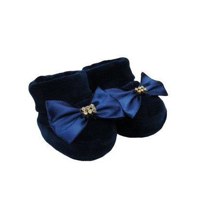 Sapatinho Bebê Feminino Plush Azul Marinho