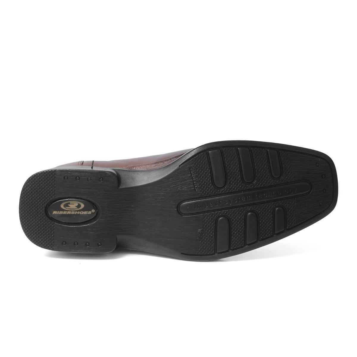 505cd25df ... Sapato 100% Couro Riber Shoes Elastico Anti-Stress Masculino