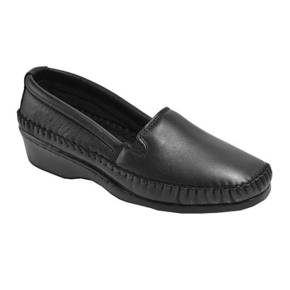 Sapato 3Ls3 De Pelica Salto Anabela Preto-Feminino