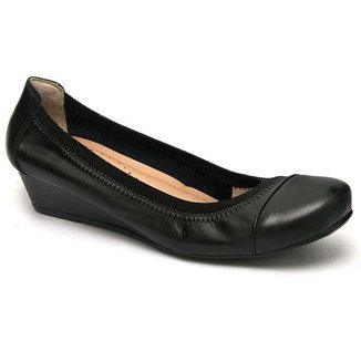 Sapato Anabela 805-0001 Calçar Bem Feminino