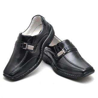 Sapato Anti Stress Masculino em Couro Preto 2018 PRETO