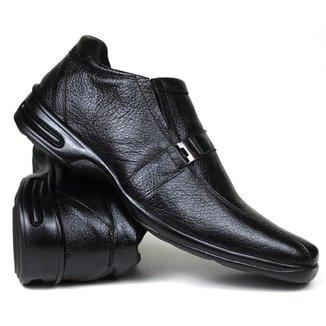 Sapato Anti Stress Social Masculino Confort Couro