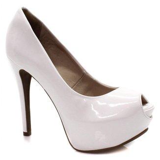Sapato Bebece Peep Toe Salto Fino