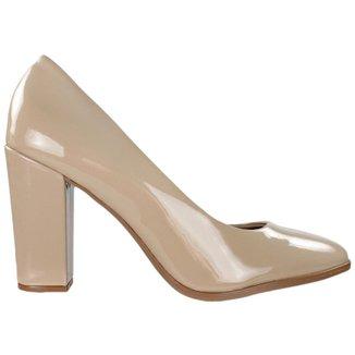 Sapato Beira Rio Scarpin Feminino Bege