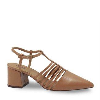 Sapato Bico Fino Parô 1.375A Couro Feminino