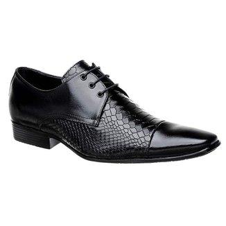 Sapato Bigioni Social Masculino com Cadarço
