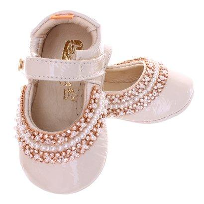 Sapato Boneca Mogly Verniz Marfim-Feminino