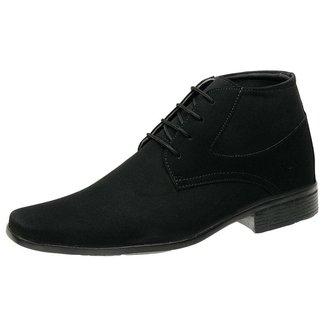 Sapato Bota Social Roma Shoes  Cano Curto Solado Antiderrapante Masculino