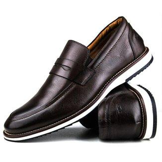 Sapato Casual Brogue Premium Comfort Social Couro