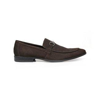 Sapato Casual Couro Cafe Nobuck 58850