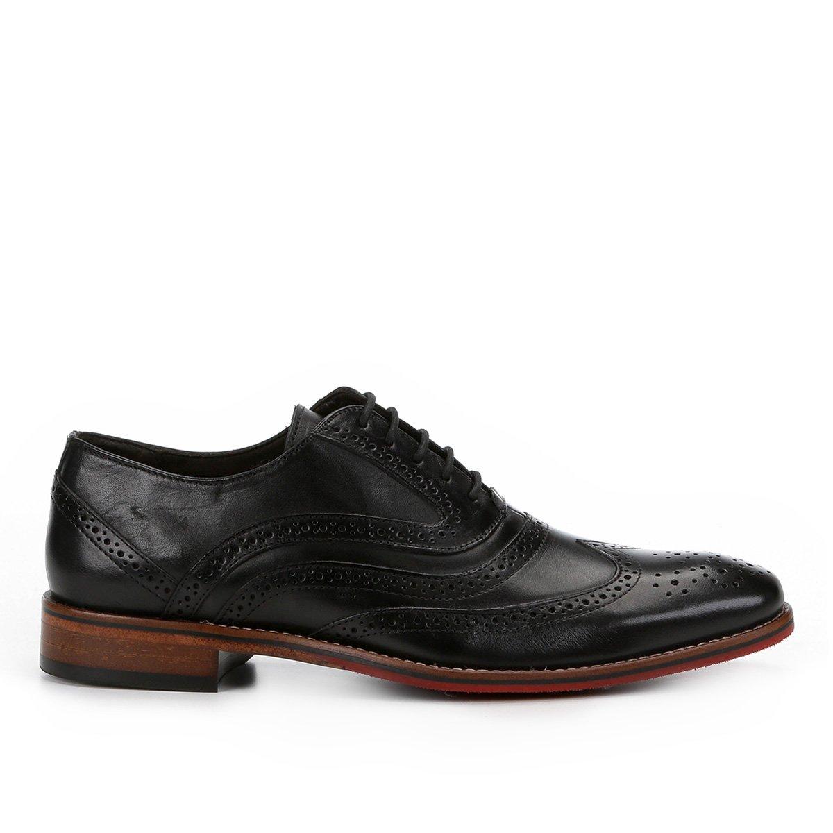 Casual Preto Sapato Casual Inglês Ferracini Caravaggio Couro Sapato Premium 6SnCq