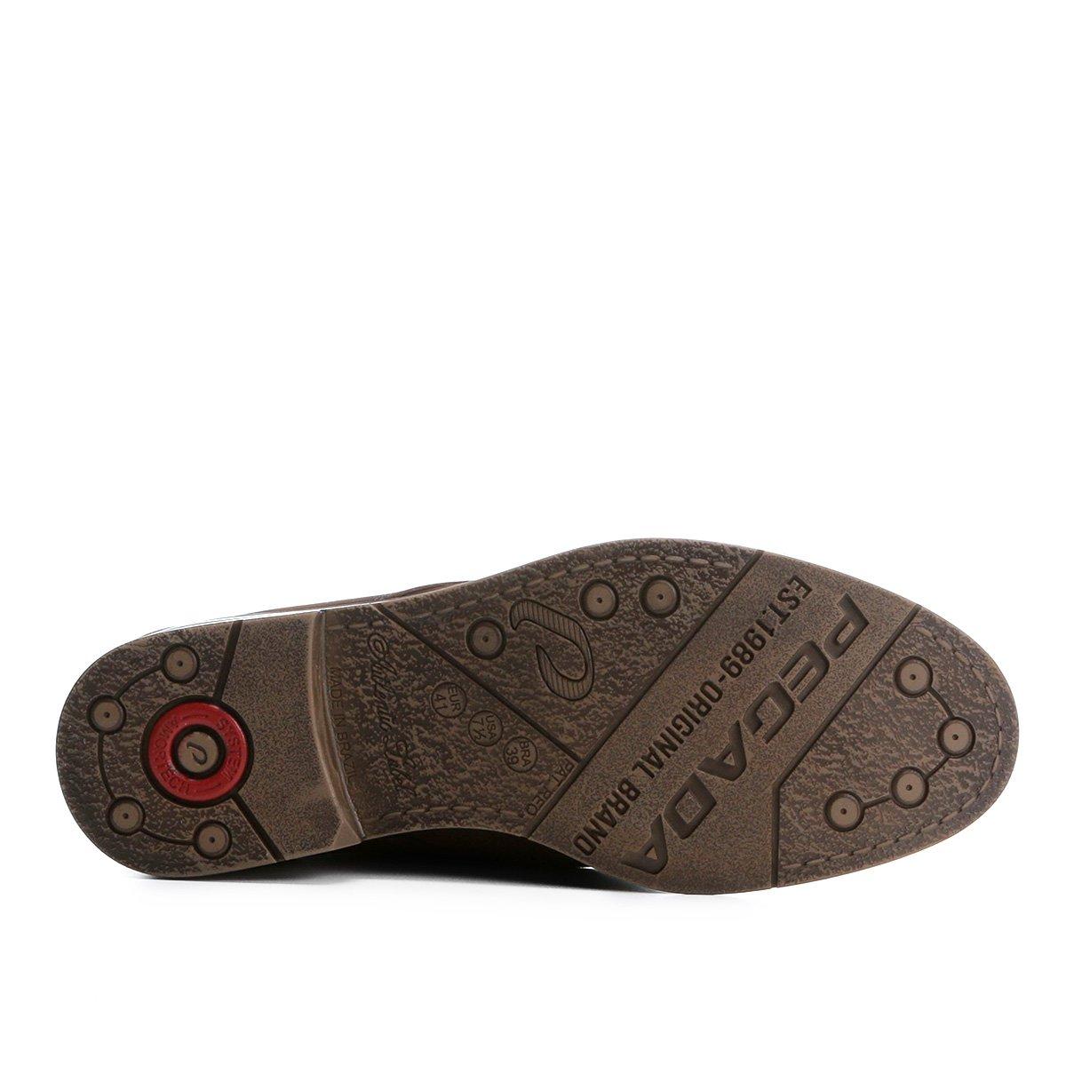 Masculino Casual Sapato Pegada Couro Sapato Marrom Casual rBEFqEX