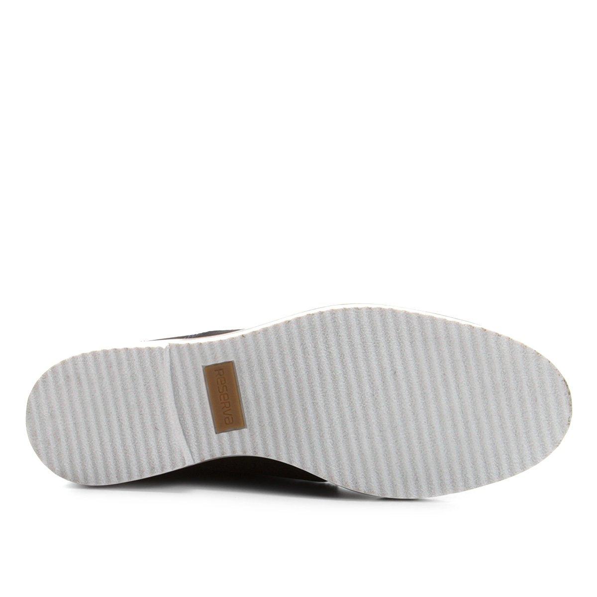 Casual Lipe Couro Sapato Sapato Marinho Masculino Casual Reserva nWWET