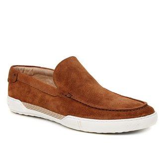 Sapato Casual Couro Shoestock Camurça Liso Masculino