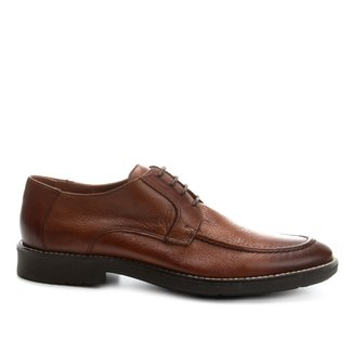 Sapato Casual Couro Shoestock Solado de Borracha Masculino