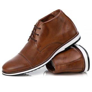 Sapato Casual Couro Tchwm Shoes Masculino Conforto Moderno