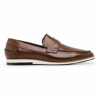 Sapato Casual Couro Whisky 24513 Vg