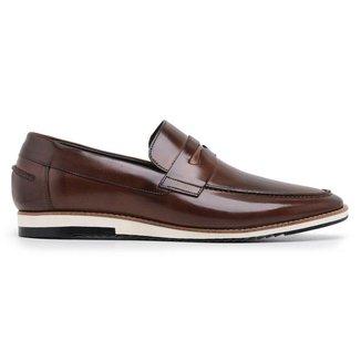 Sapato Casual Couro Whisky 24513w