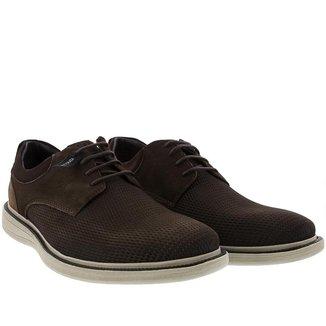 Sapato Casual Democrata Metropolitan Bay Couro Masculino