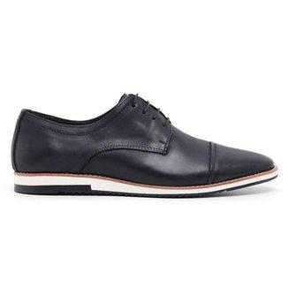 Sapato Casual Derby Preto Noite Nobuck 24515n