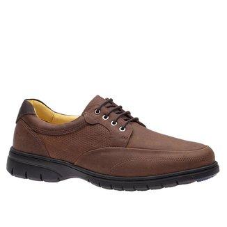 Sapato Casual Doctor Shoes Couro 1800 Graxo Telha