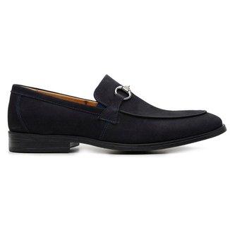 Sapato Casual Marinho Couro Nobuck 58850
