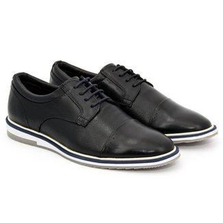 Sapato Casual Masculino Couro Cano Baixo Dia a Dia