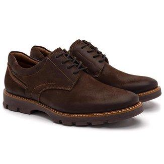 Sapato Casual Masculino Couro Liso Conforto Casual Dia a Dia