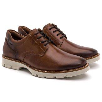 Sapato Casual Masculino Couro Liso Conforto Leve Casual