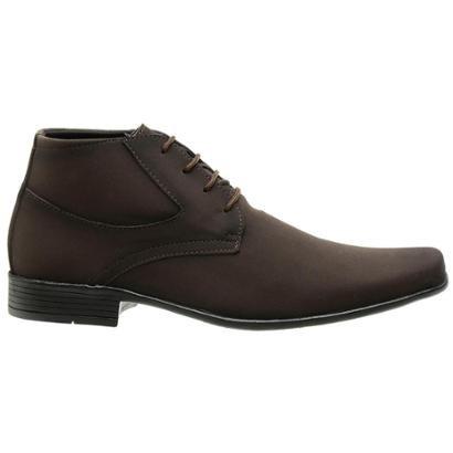 Sapato Casual Masculino Fechamento Cadarço Masculino - Masculino-Marrom