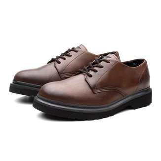 Sapato Casual Masculino Viena Couro Trabalho Black Boots