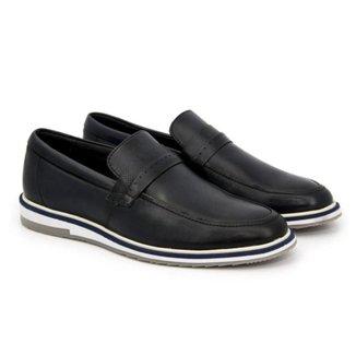 Sapato Casual Mocassim Masculino Couro Cano Baixo Dia a Dia