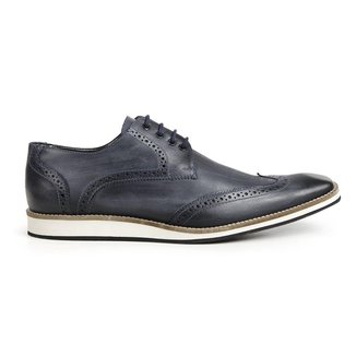 Sapato Casual  Oxford Bigioni  Couro Estonado Masculino