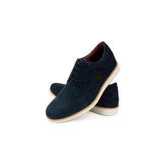Sapato Casual Oxford Confort Furado Masculino Couro