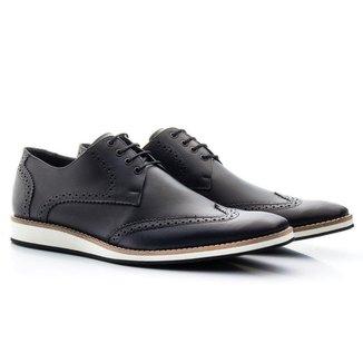 Sapato Casual Oxford Couro Masculino
