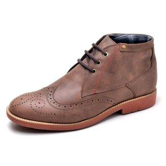 Sapato Casual Oxford Couro Reta Oposta Masculina
