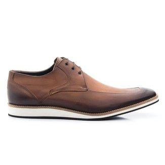 Sapato Casual Oxford Couro Whisky Estonado 363