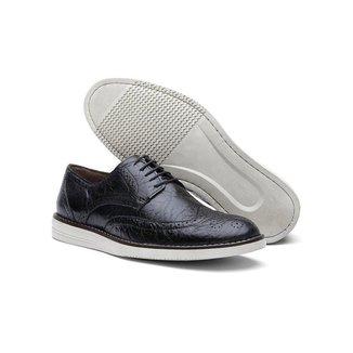 Sapato Casual Oxford Masculino Couro Fóssil 206