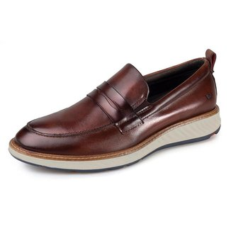 Sapato Casual Rafarillo Masculino Couro Solado Com Elástico Lateral