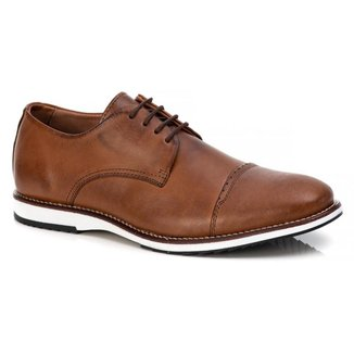 Sapato Casual Social Masculino Em Couro Castor
