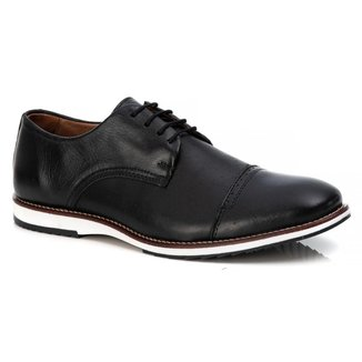 Sapato Casual Social Masculino Em Couro