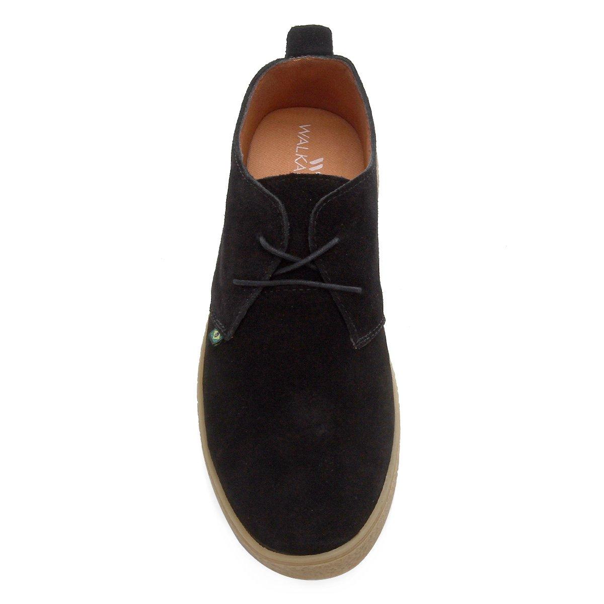 Sapato Casual Walkabout Couro West Masculino - Preto