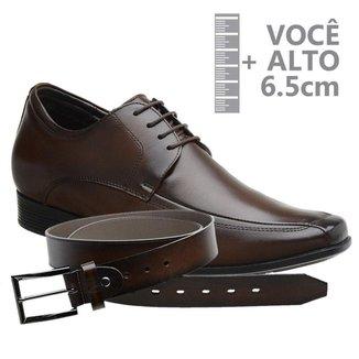 Sapato Com Salto Interno Jota Pe Marrom Air + Cinto 71353