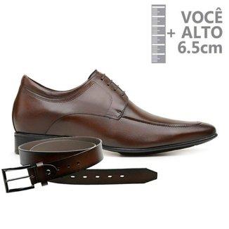 Sapato Com Salto Interno Jota Pe Marrom Air + Cinto De Couro 79501