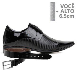 Sapato Com Salto Interno Jota Pe Preto Vz Air + Cinto 79609