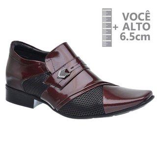 Sapato Com Salto Interno Jota Pe Vinho 79357