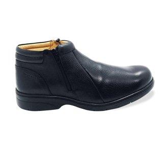 Sapato Confort Gel em Couro Vitrine dos Pés Masculino