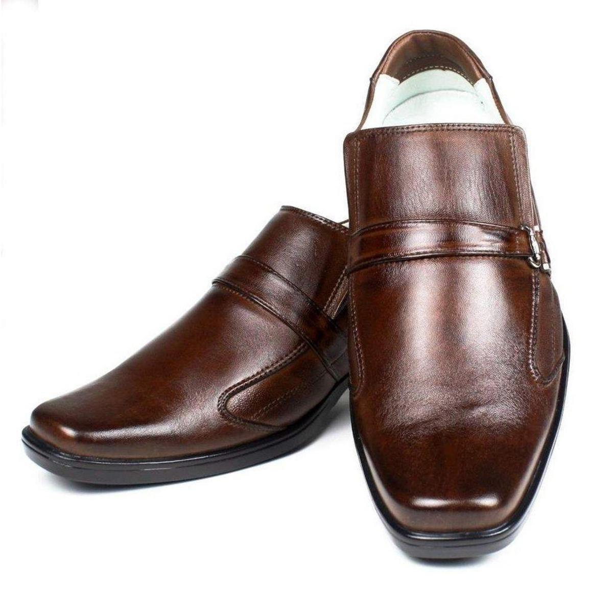 Sapato Marrom Confortável Ranster Escuro Couro Sapato Gel Ranster Palmilha Confortável 5Zgfwf